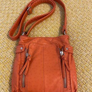 BUENO Faux Leather Rust Color cute bag
